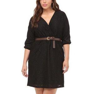 NWT Torrid Black Lace dress size X1